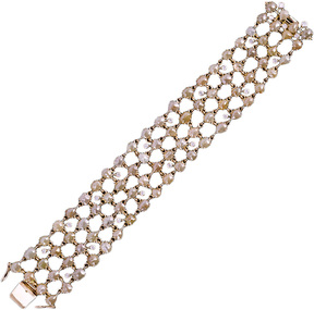 Artisan Women's Gold & Diamond Bracelet