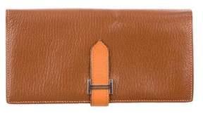 Hermes Bicolor Bearn Wallet - BROWN - STYLE