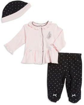 Little Me Baby Girl's Ballerina Top Pants and Hat Set