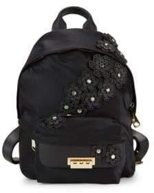 Zac Posen Eartha Floral-Embellished Backpack