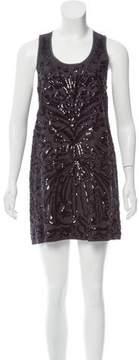 Calypso Embellished Linen Mini Dress
