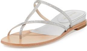 Pelle Moda Neka Embellished Flat Slide Sandal, Silver