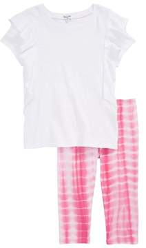 Splendid Slub Tee & Tie Dye Leggings Set