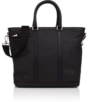 Barneys New York MEN'S LEATHER TOP-ZIP TOTE BAG