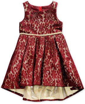 Sweet Heart Rose Lace High-Low Hem Dress, Little Girls (4-6X)