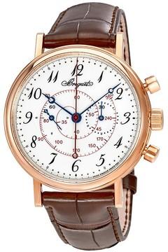 Breguet Classique White Enamel Dial Men's Hand Wound Watch