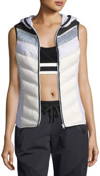 Blanc Noir Packable Zip-Front Moto Vest