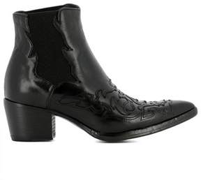 Alberto Fasciani Women's Black Leather Ankle Boots.