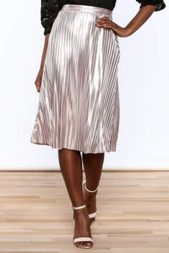 Ark & Co Metallic Pleated Skirt