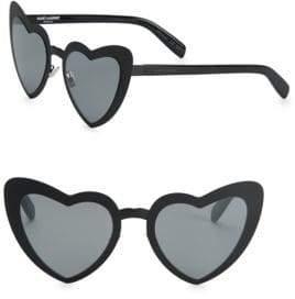 Saint Laurent SL 196 53MM Lou Lou Heart-Shaped Sunglasses