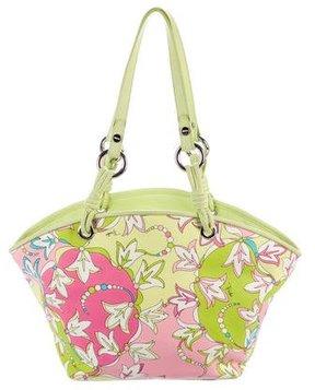 Emilio Pucci Leather-Trimmed Floral Shoulder Bag