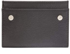 Balenciaga Screw-stud leather card holder