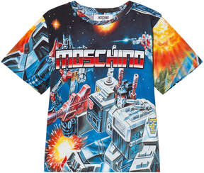 Moschino Blue Transformers Branded Tee
