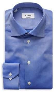 Eton Herringbone Dress Shirt