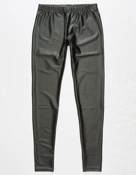 Full Tilt Faux Leather Girls Leggings
