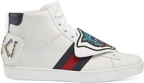 Ace high-top with removable patches