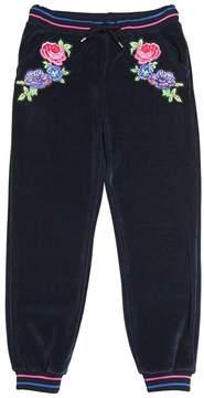 MSGM Embroidered Cotton Chenille Sweatpants