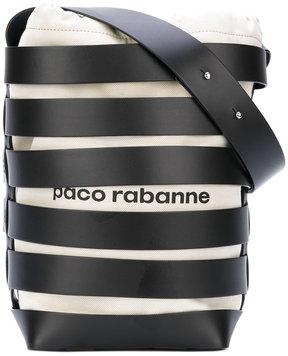 Paco Rabanne strap detail bucket bag