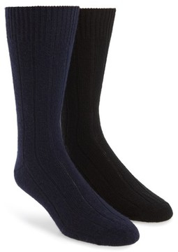 John W. Nordstrom Men's 2-Pack Cashmere Blend Socks Box Set