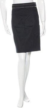 Bally Zip Embellished Pencil Skirt