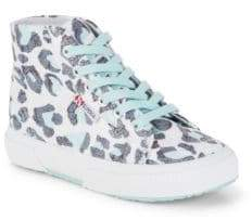 Superga Girl's Printed High Top Canvas Sneakers
