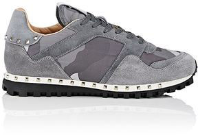 Valentino Men's Studded Nylon & Suede Sneakers