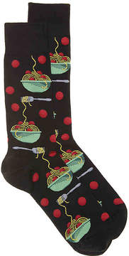 Hot Sox Men's Meatballs Men's's Crew Socks