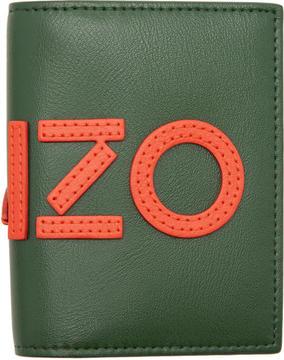 Kenzo Khaki Logo Card Holder