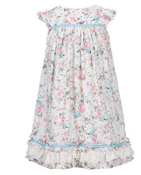 Laura Ashley London Little Girls 2T-6X Floral Ruffle-Hem Dress