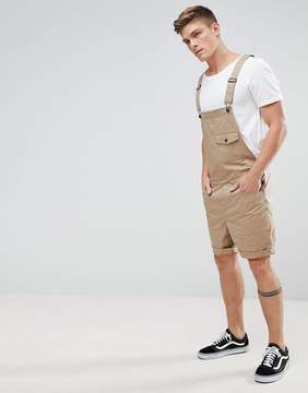 Asos Short Overalls In Stone