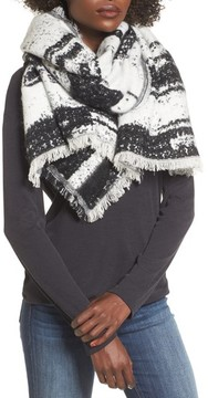 Sole Society Women's Textured Blanket Scarf