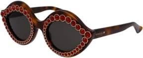 Gucci Sunglasses GG 0045 S- 002 AVANA / BROWN