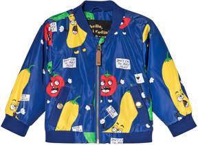 Mini Rodini Blue Veggie Baseball Jacket