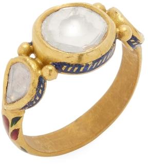 Amrapali Women's 22K Yellow Gold & 0.85 Total Ct. Diamond Band Ring