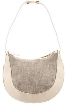 Loewe Canvas Leather-Trimmed Shoulder Bag