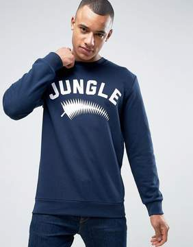 Esprit Crew Neck Sweatshirt with Jungle Print