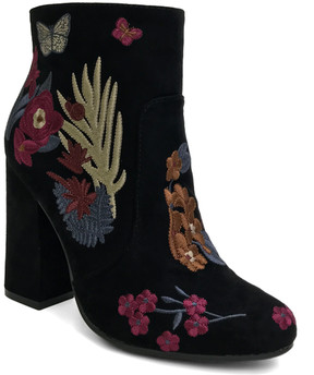 Bamboo Black Floral Namaste Boot - Women