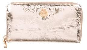 Tory Burch Metallic Vinyl Continental Wallet - GOLD - STYLE