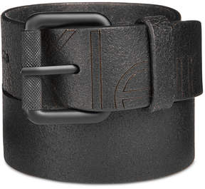 Calvin Klein Men's Cracked-Finish Leather Belt
