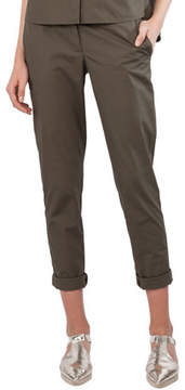 Akris Punto Straight-Leg Cropped Chino Pants