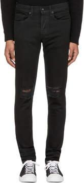Rag & Bone Black Standard Issue Fit 1 Holes Jeans