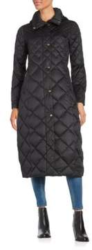 Ellen Tracy Gradient Diamond Quilt Hooded Jacket