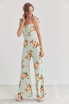 Flynn Skye Bardot Floral Button-Down Jumpsuit