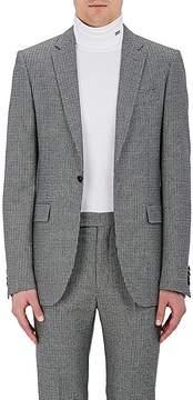 Calvin Klein Men's Houndstooth Wool One-Button Sportcoat