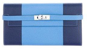 Hermes 2016 Epsom Kelly Flag Wallet - BLUE - STYLE