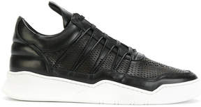 Filling Pieces perforated cross lace sneakers