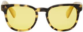 Paul Smith Tortoiseshell and Yellow Hadrian Sunglasses