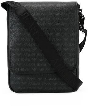 Armani Jeans logo pattern messenger bag