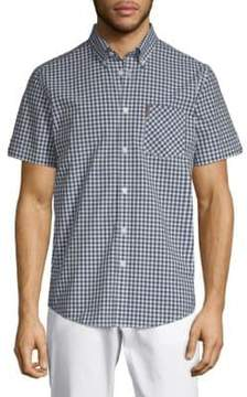 Ben Sherman Gingham Cotton Button-Down Shirt