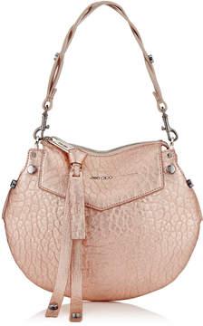 Jimmy Choo ARTIE MINI Rose Gold Metallic Grainy Leather Shoulder Bag